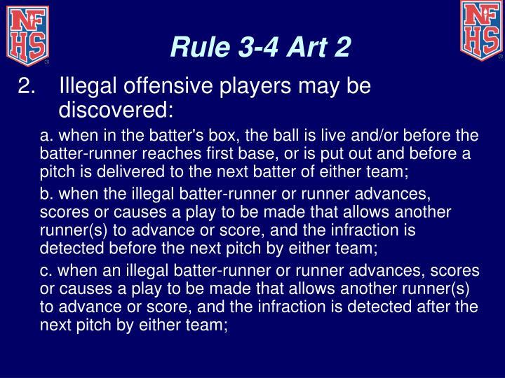 Rule 3-4 Art 2