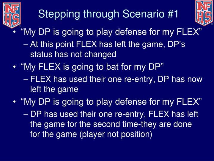 Stepping through Scenario #1