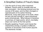 a simplified outline of freud s ideas