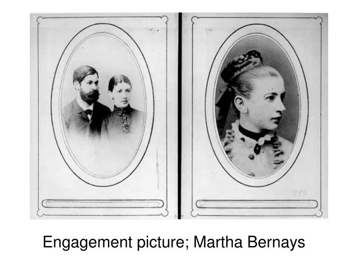 Engagement picture; Martha Bernays