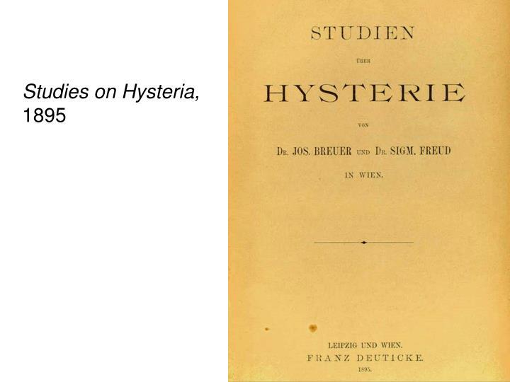 Studies on Hysteria,