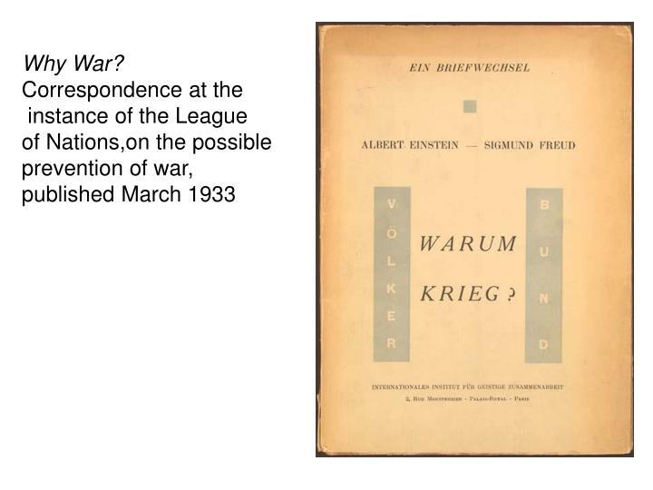 Why War?