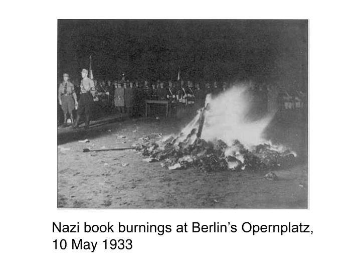 Nazi book burnings at Berlin's Opernplatz,