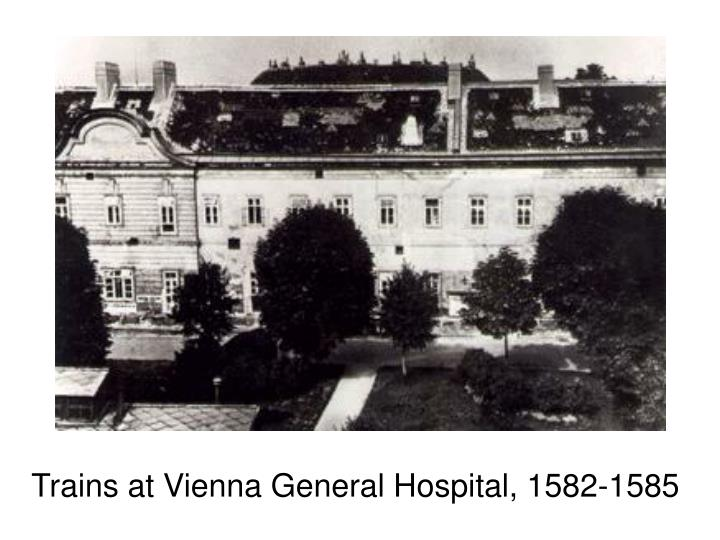 Trains at Vienna General Hospital, 1582-1585