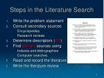 steps in the literature search
