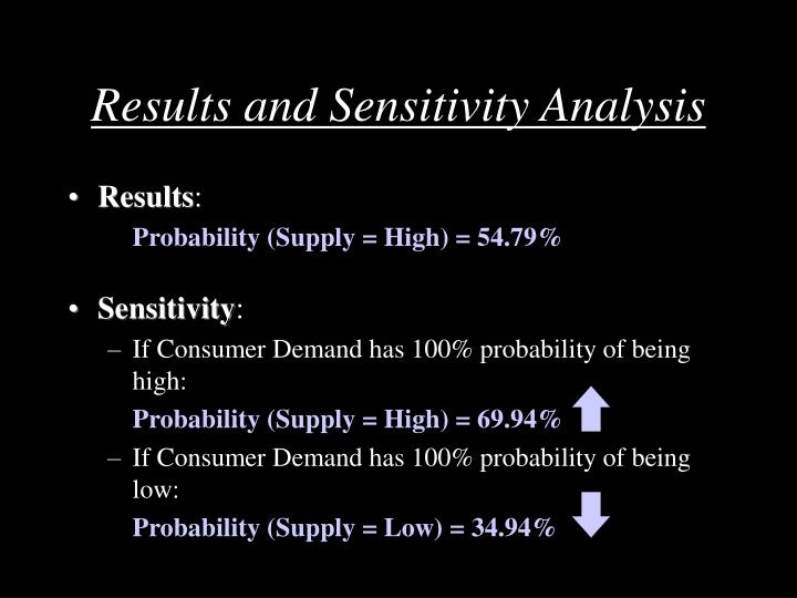 Results and Sensitivity Analysis