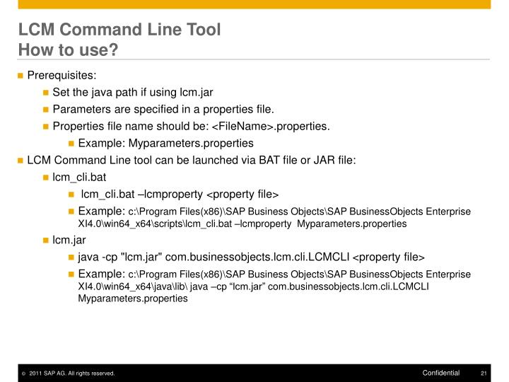 LCM Command Line Tool