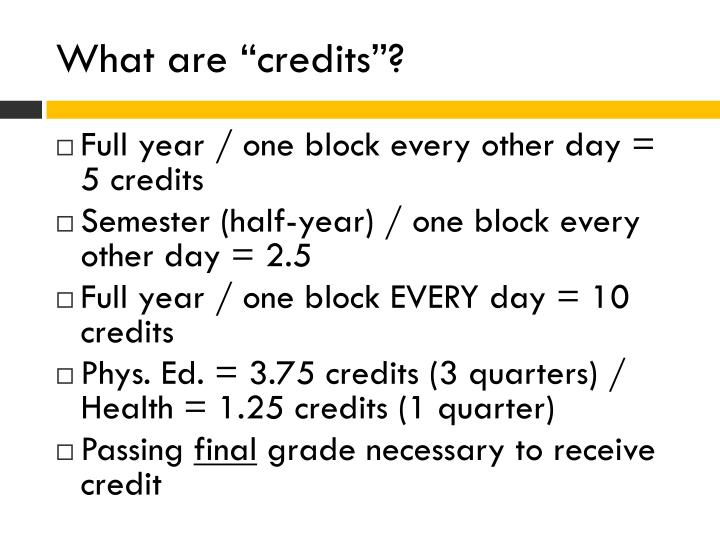 "What are ""credits""?"