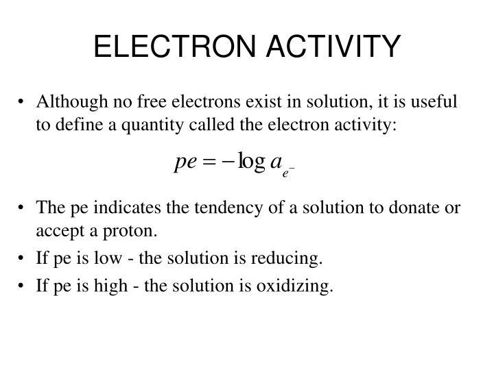 ELECTRON ACTIVITY