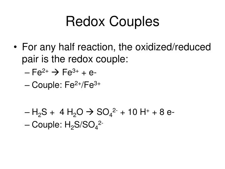 Redox Couples