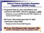 defense federal acquisition regulation supplement dfars change