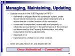 managing maintaining updating
