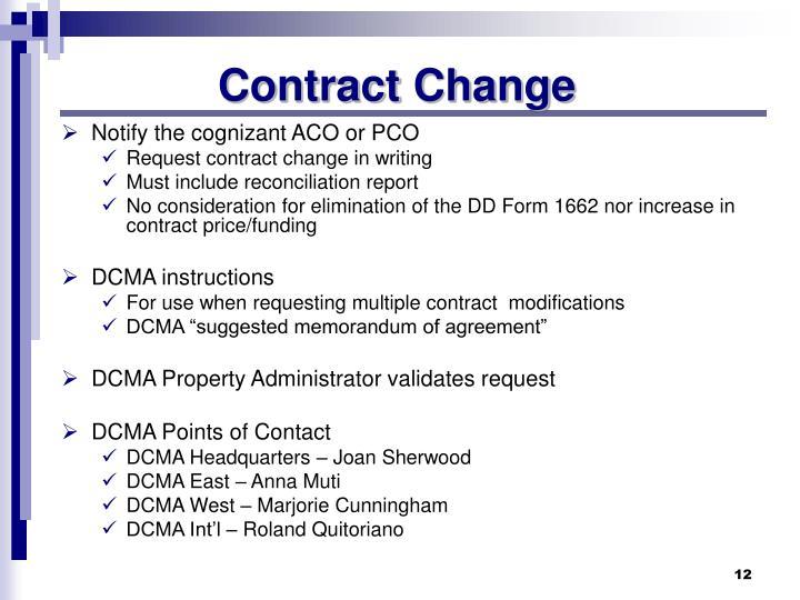 Contract Change