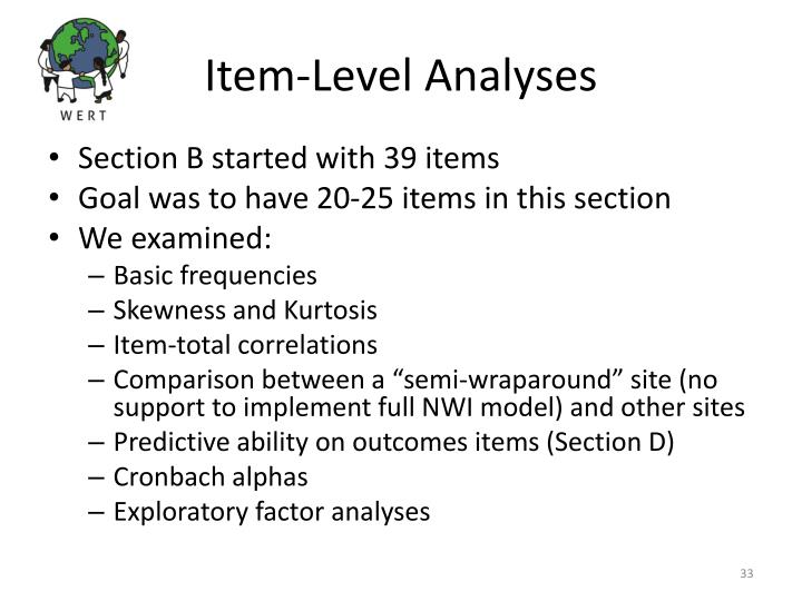 Item-Level Analyses