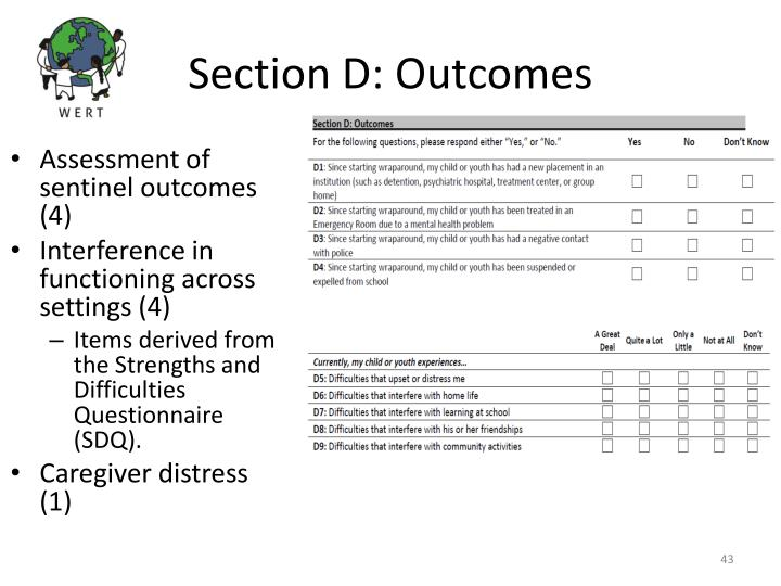 Section D: Outcomes
