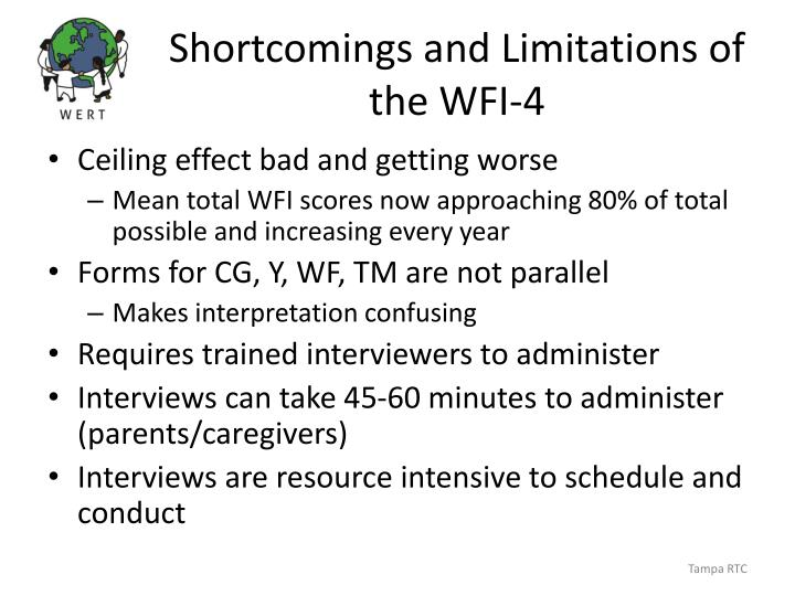 Shortcomings and Limitations of the WFI-4