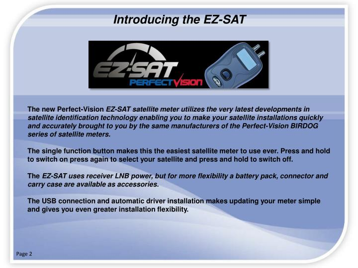 Introducing the EZ-SAT