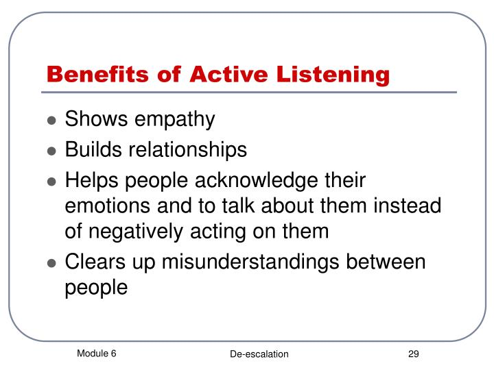 benefits of active listening pdf