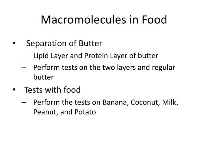 Macromolecules in Food