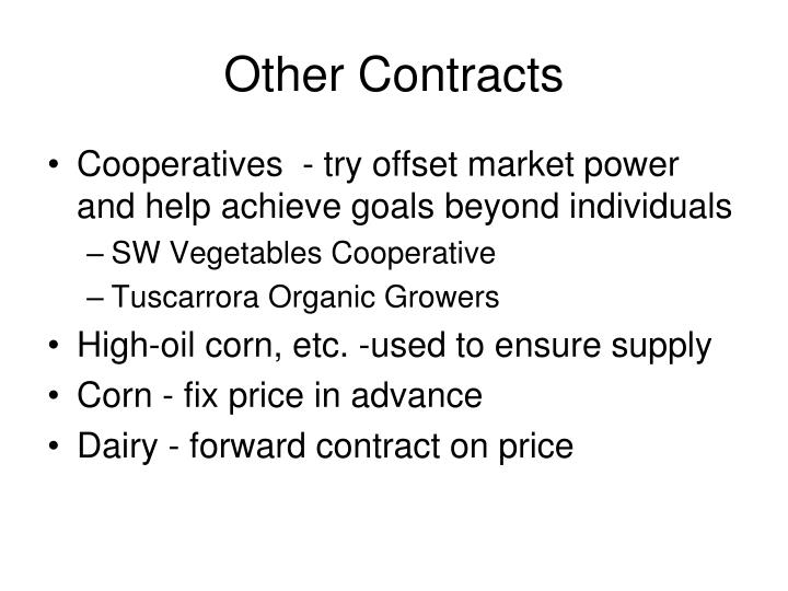 Other Contracts