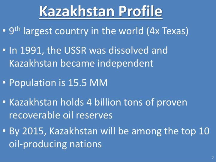 Kazakhstan Profile