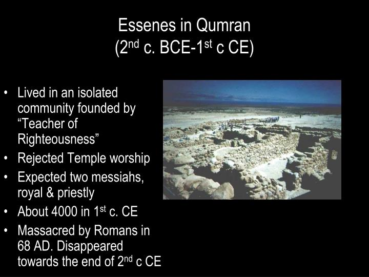 Essenes in Qumran