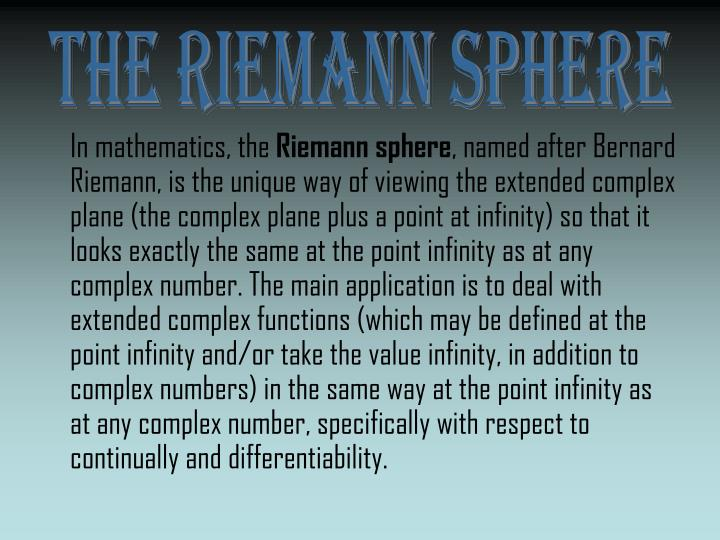 The Riemann Sphere