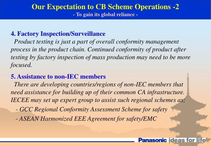 Our Expectation to CB Scheme Operations -2