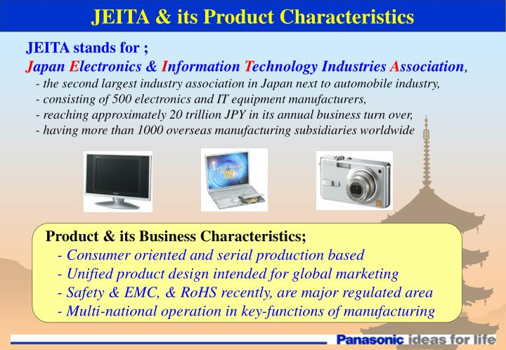 JEITA & its Product Characteristics
