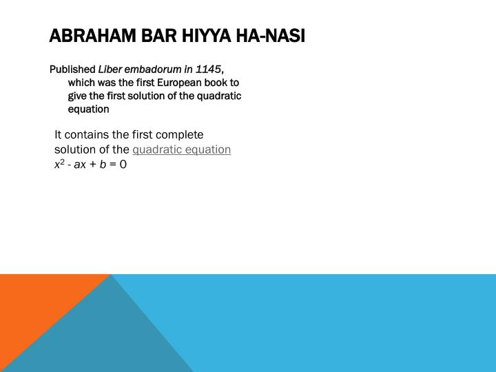 Abraham bar