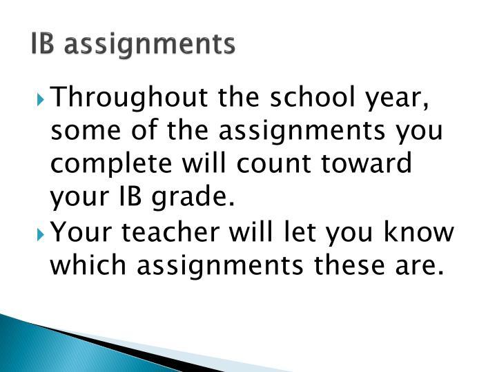 IB assignments