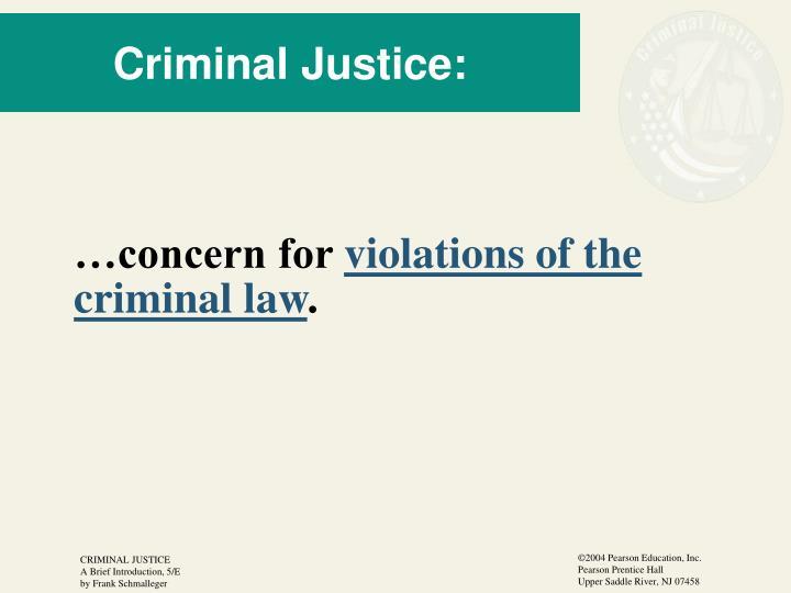 Criminal Justice: