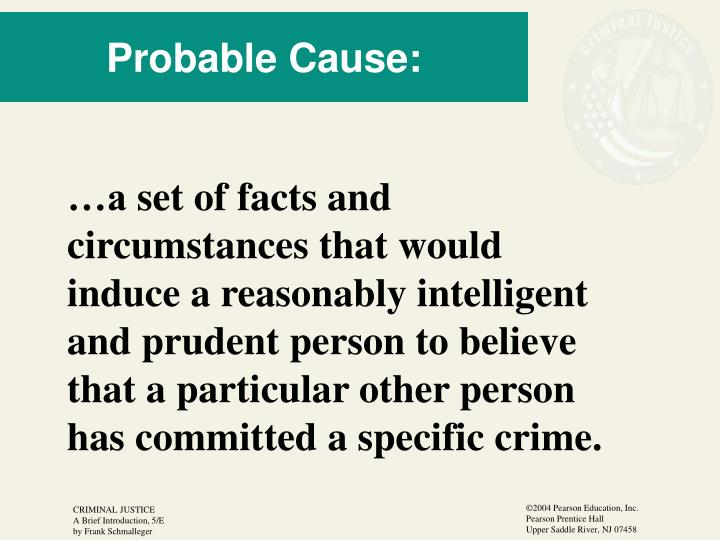 Probable Cause: