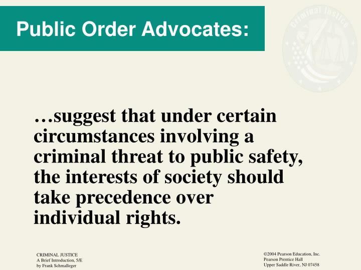 Public Order Advocates: