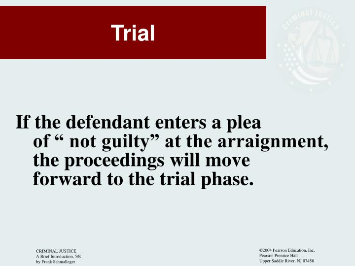 If the defendant enters a plea