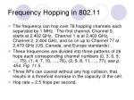 frequency hopping in 802 11