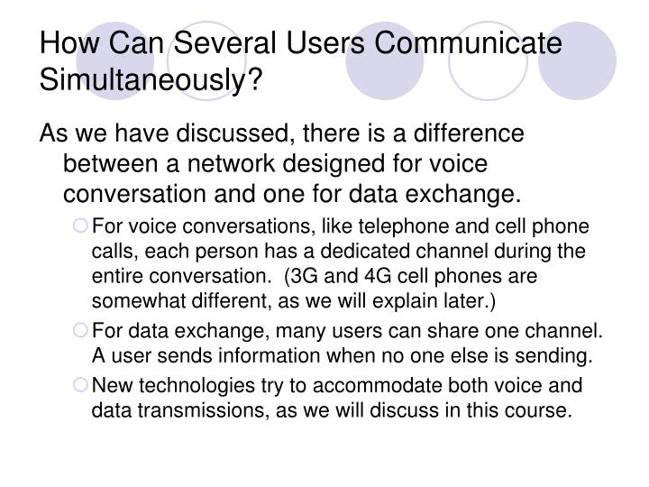 How Can Several Users Communicate Simultaneously?