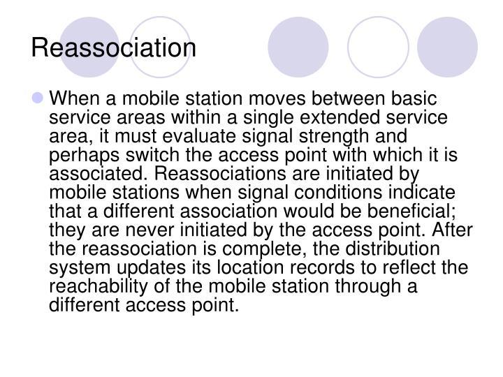 Reassociation