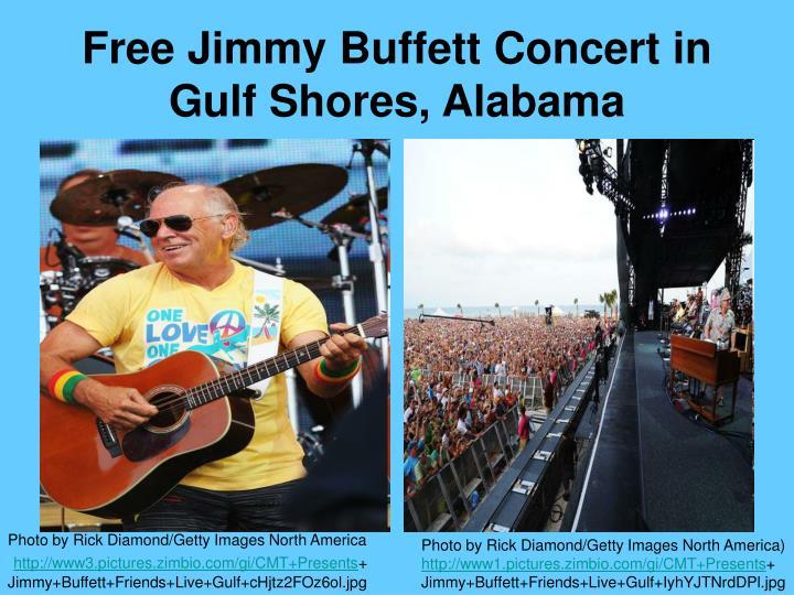 Free Jimmy Buffett Concert in Gulf Shores, Alabama