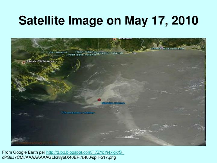 Satellite Image on May 17, 2010