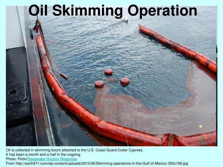 Oil Skimming Operation
