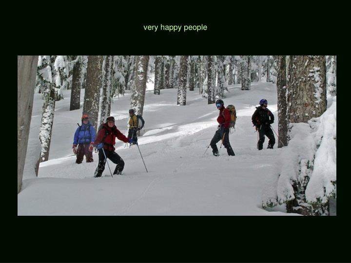 very happy people