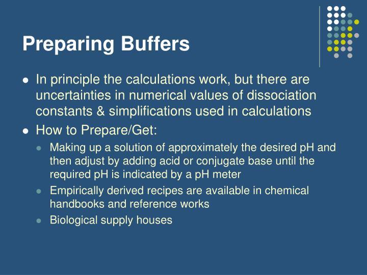 Preparing Buffers
