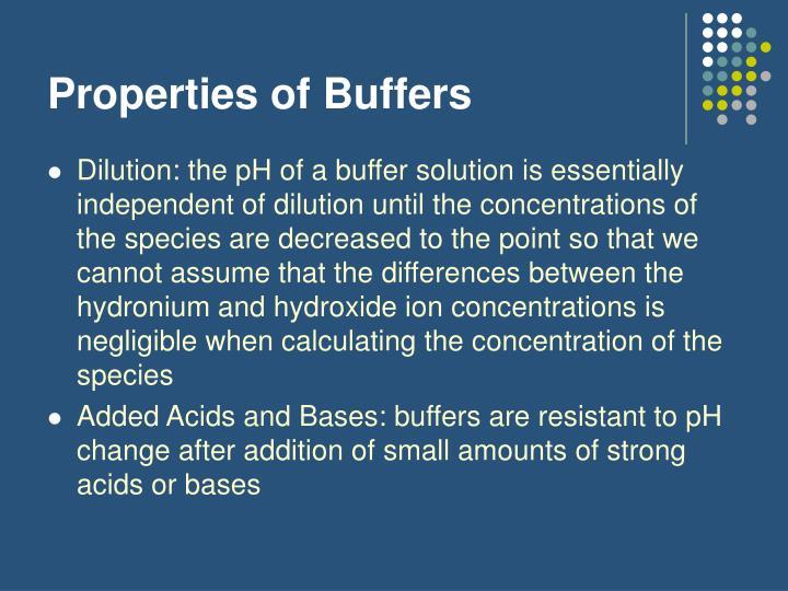 Properties of Buffers