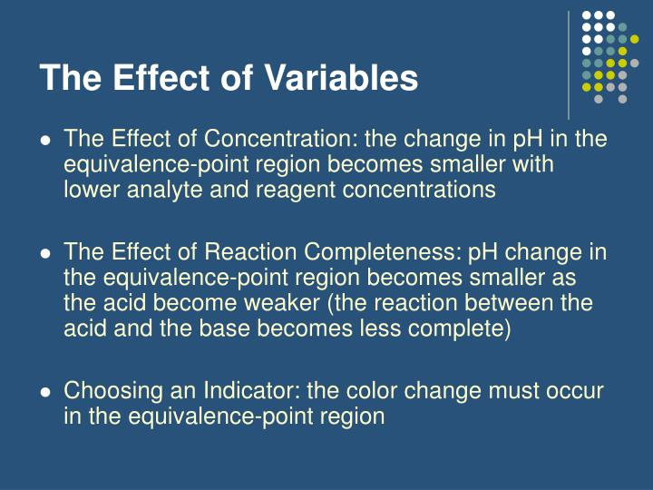 The Effect of Variables