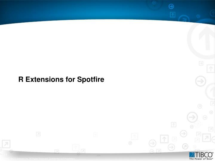 R Extensions for Spotfire
