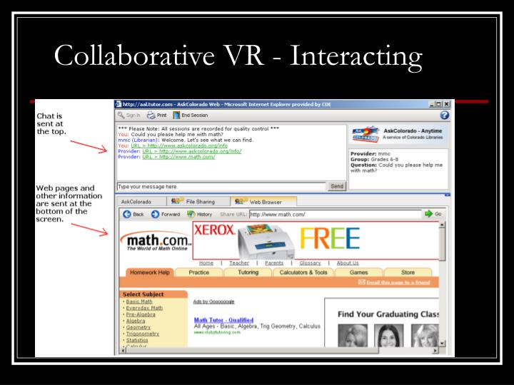 Collaborative VR - Interacting