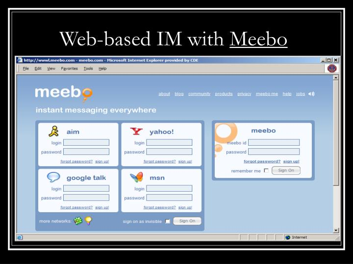 Web-based IM with