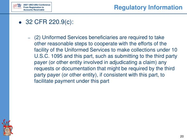 Regulatory Information