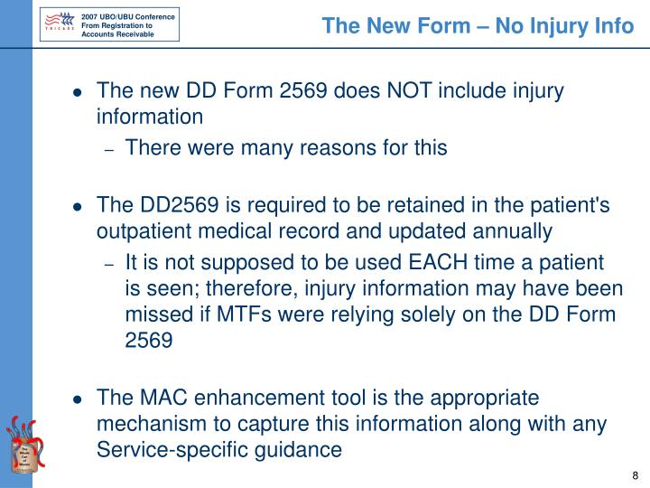 The New Form – No Injury Info